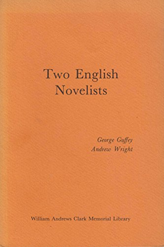 Portada del libro Two English Novelists, Aphra Behn and Anthony Trollope: Papers read at a Clark Library Seminar, May 11, 1974