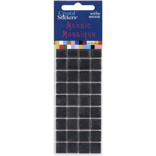 Black Crystal Stickers Mosaics 10mm 36/Pkg MOSC10-5530 (Mark Crystal Sticker)