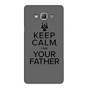 Grey Calm Father Back Case Cover for Galaxy A7