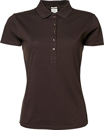 TJ145 Ladies Luxury Stretch Polo Coral