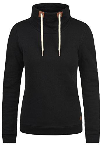 DESIRES Vicky Tube Damen Sweatshirt Pullover Sweater Mit Stehkragen Und Fleece-Innenseite, Größe:M, Farbe:Black (9000)