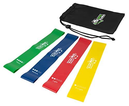 The Panda Brand Fitnessbänder in 4 verschiedenen Stärken inkl. praktischer Tragetasche und Anleitung auf Deutsch - Fitnessband für Home-Workout