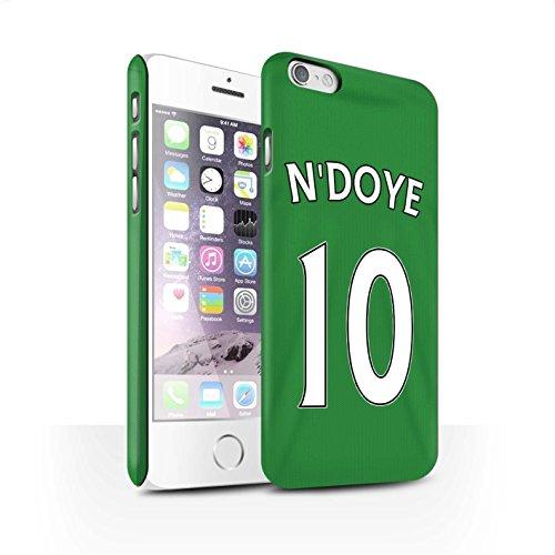 Offiziell Sunderland AFC Hülle / Matte Snap-On Case für Apple iPhone 6 / Pack 24pcs Muster / SAFC Trikot Away 15/16 Kollektion N'Doye