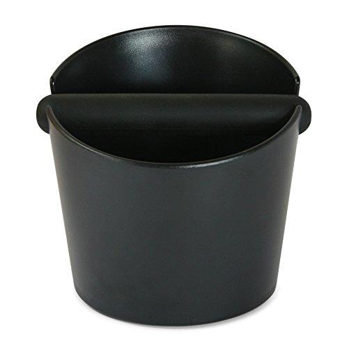 Wenburg Abschlagbehälter/Knock box (15 cm), groß, für Siebträger Kaffeemaschinen. Abklopfbehälter mit gummierter Abklopfstange und rutschfestem Boden. Kaffeesatz-Behälter, schwarz - 3