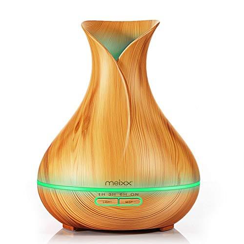 ThreeCat 400ml Humidificador Ultrasónico Aromaterapia,Difusor de Aroma Aceites Esenciales con Vapor Frío, 7-Color LED,4 Temporizador, Ambientador,Humidificador Bebes, Hogar, Oficina etc