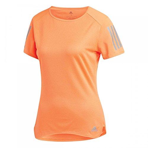 adidas Damen Response T-Shirt, Hi-Res Orange, XL