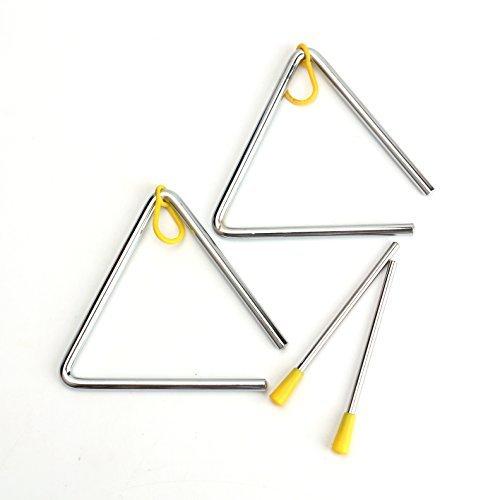 Lawei 2 Stück Triangel mit Schlägel Hand Percussion Instrument, 12,7 cm
