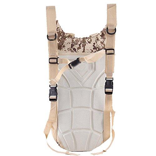 boshiho® 3L Hydration Pack Blase Wasser Tasche für Laufen Wandern Radfahren Klettern - Camouflage