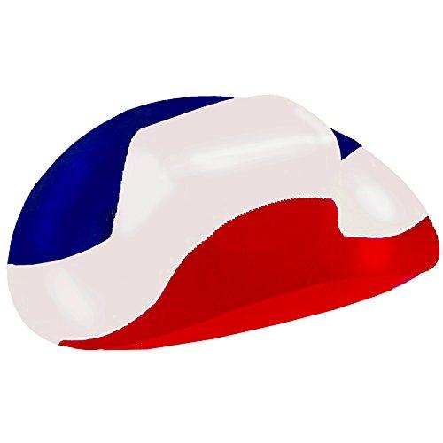 BRUBAKER Cowboyhut in den Nationalfarben Frankreichs Kroatiens und der Niederlande -...