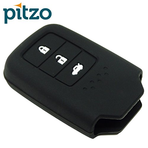 PITZO Car Silicone Key Cover Suitable with Honda City 2014+ [push button start] for 3 Button Remote Smart Key