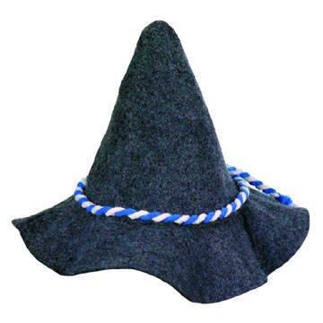 Boland 93994-Hut Bavaria mit Kordel blau/weiß, 68Gramm, Grau