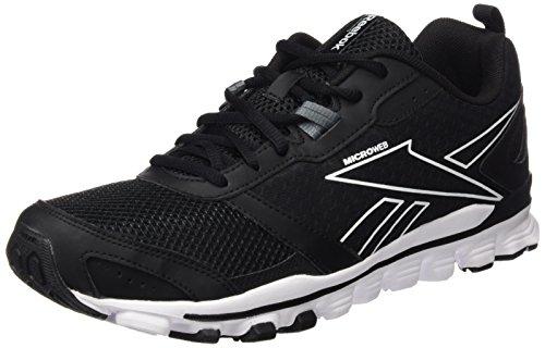 Reebok Hexaffect LE Run-Scarpa Da Jogging, Uomo, Multicolore (Black / Alloy / White), 46
