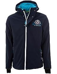 Peak Mountain - chaqueta softshell chico 10/16 años ECETOM-marina-10 años