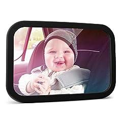Idea Regalo - MYSBIKER Specchio Auto Bambino, Specchietto Retrovisore Bambini a rotazione di 360°, Specchietto per Seggiolino Auto Infranbile, Auto Neonato Specchio Controllo Bimbi con Doppia Cinghia Regolabile