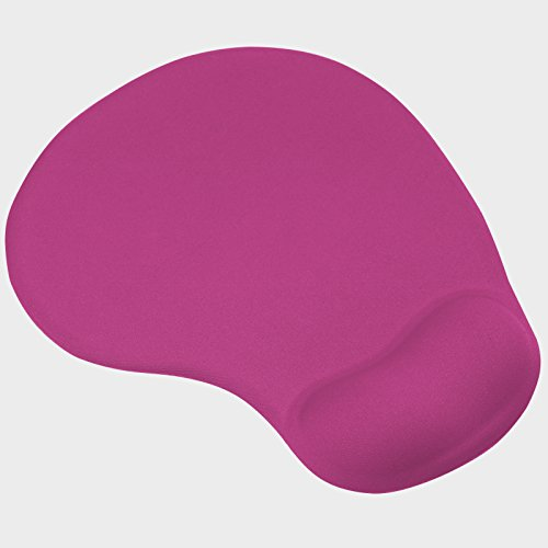 trixes-tappetino-per-mouse-rosa-shocking-con-poggia-polso-in-comfort-gel-per-pc-e-laptop