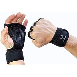 Raging Bull Guantes Gimnasio ventilados Ideales para Crossfit - Levantamiento de Pesas - Calistenia - Dominadas en Barra - Kettlebell. Gym Gloves con Muñequera, Fitness Hombre y Mujer 2019 L