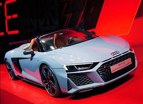 Audi R8 convertible: 120 pages with 20 lines you can use as a journal or a notebook .8.25 by 6 inches.