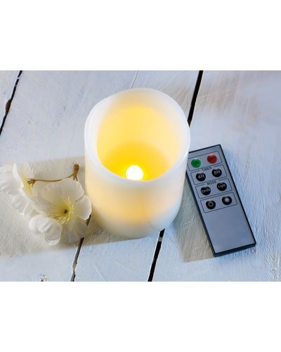 Britesta LED de velas de cera con temporizador y mando a distancia, Juego de 3