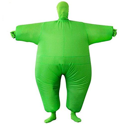 Haafee Kostüme für Erwachsene Aufblasbares Kostüm Fett Anzug, Fasching Karneval Party Outfit (Grün)