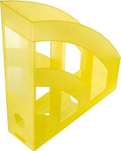 helit h2361011Portariviste Economy, DIN A4-C4, Plastica, Giallo/Traslucido