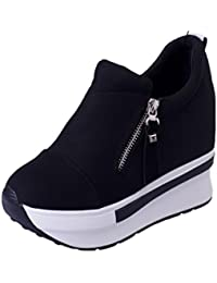 Oyedens Scarpe Donna Sportive Scarpe da Corsa Sneakers Autunno Inverno  Caldo Antiscivolo Outdoor Shoes Slip On d283a388bd3
