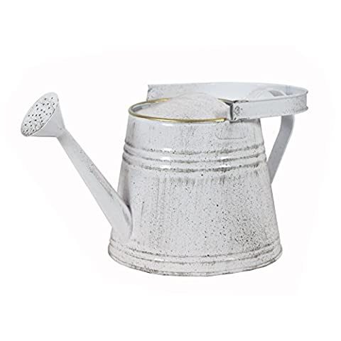 Watering Can Metal Bucket - Pot - Planter - White Coated Finish