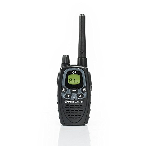 Midland G7 XTR PMR446 Single Walkie-Talkie, Nero