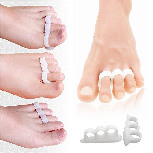 Hammer Fuß Behandlung, Gel Zehen Wappen Pad, weiche Gel schwarz Fingerschienen für verhindern...