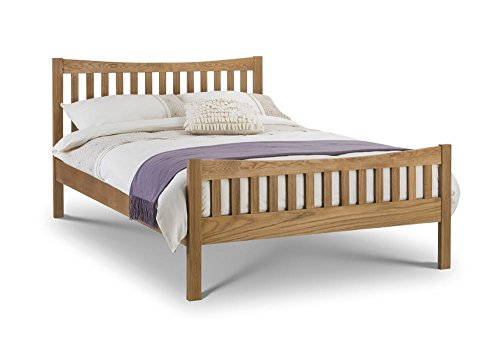 Happy Beds Bergamo Bed Solid American White Oak Frame 5' King Size 150 x 200 cm