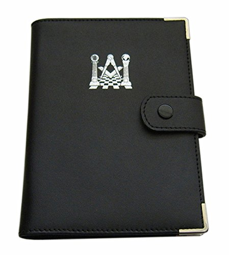 Masonic Ritual-Bucheinband aus weichem Leder - Emblem Aus Leder