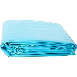 Liner PVC pour piscine poolomio, liner de grande qualité et résistant au froid, adapté aux piscines avec parois en acier de Ø 360 x 120 cm x 0,4 mm