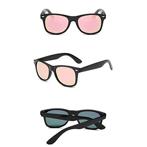 Wangwen Mens Womens Classic Sonnenbrille Shades Vintage Retro (Color : Black Frame Powder)