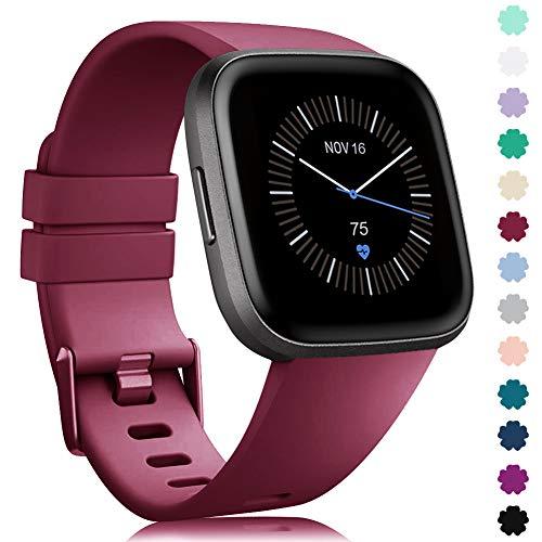 Silicona Reemplazo Deportivo Pulsera Compatible para Fitbit Versa//Versa 2// Versa Lite//Versa SE para Hombre Mujer Sin Reloj Onedream Compatible para Fitbit Versa//Versa Lite//Versa 2 Correa