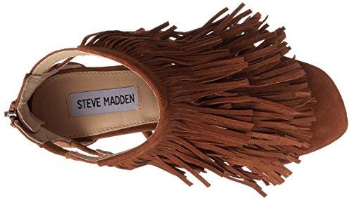 Steve Madden Fringly, Sandales Plateforme femme Noisette