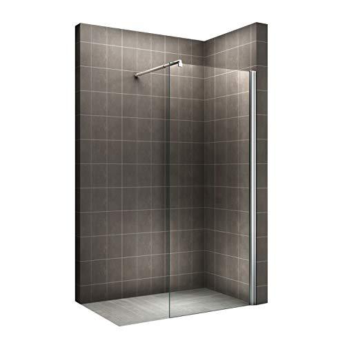 Walk In Dusche, 10mm Sicherheitsglas, Nano-Beschichtung