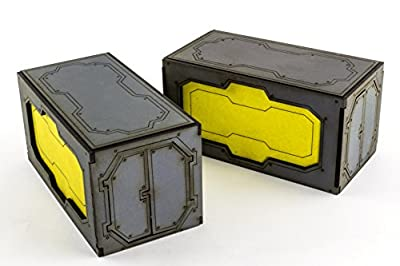 Industry of War - Conteneurs Empilés x 2 – Marqueurs Objectifs, Science-Fiction, Necromunda, Infinity, 40k