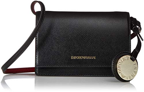 Emporio Armani Small Logo Grain Damen Cross Body Bag Schwarz