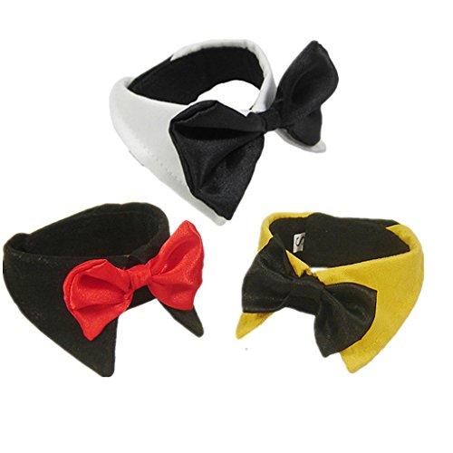 Art Und Weise Liebenswert Haustier Hund Katze Krawatte Kragen – Gelb, XL - 4