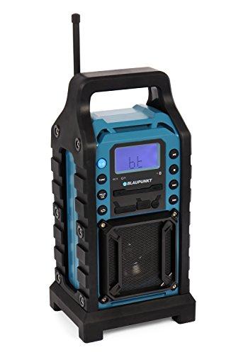BLAUPUNKT BSR 10 Baustellen Radio mit PLL-UKW, Bluetooth, USB, SD, AUX-IN, Robustes Gehäuse, Akkubetrieben blau (Bose-lautsprecher-shop)