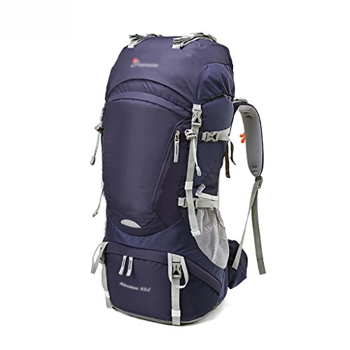 HWLXBB Outdoor Bergsteigen Tasche Männer und Frauen 65L Wasserdichte Mehrzweck-Bergsteigen Tasche Wandern Camping Bergsteigen Freizeit Rucksack Rucksack 4*