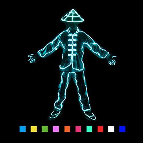 WSXX Flexibles EL-Seil, LED-Kaltlicht, Kostümdekorlicht, Batteriebetrieben, Wasserdicht, Für Tanzparty, Bar, Meeting, Glow Rave-Kostüm, Atmosphäre, DJ Bright Props (Kostüm D'halloween Diy)