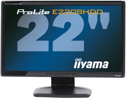 Iiyama ProLite E2208HDD 55,9cm (22 Zoll) Widescreen LCD Monitor DVI-D (Kontrast dyn. 1000:1, 5ms Reaktionszeit) schwarz -