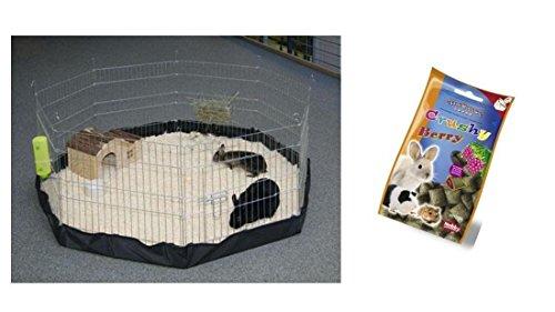 Freigehege mit Nylonboden Indoor Freilaufgehege Freilauf für Nager Kaninchen Meerschweinchen Welpen Welpengehege Laufstall Gehege Auslauf