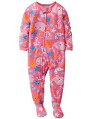 Carter's Baby Girls' 1 Piece Printed Footie (Baby) - Whale - 18 Months Color: Whale Size: 18 Months (Baby/Babe/Infant - Little ones)