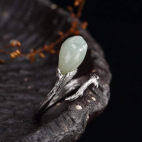 2 Magnolia Blossom (Yarmy S925 Sterling Silber Eingelegt Baiyu Stil exquisiten luxuriösen Magnolia Blossom Ring Geschenk an Liebe Menschen, Feriengeschenk)