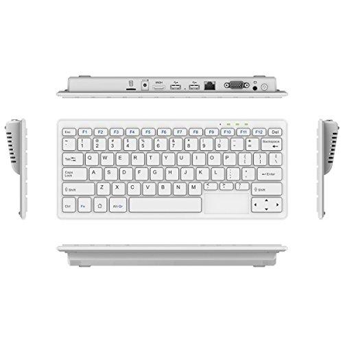 Video T20Win 10OS Tastatur PC, Intel Bay trail-t Z3735F Quad Core 1.33-1.83GHz, RAM: 2g Rom: 32g, unterstützt Micro SD Card, Built-in WiFi/BT (White)