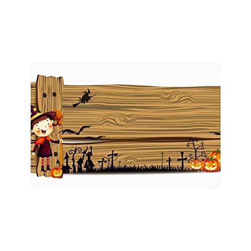 nuohaoshangmao Doormat Decorative Doormat Pumpkin Halloween Festival Custom Home and Bath Doormat 12.5 x 18 Inch