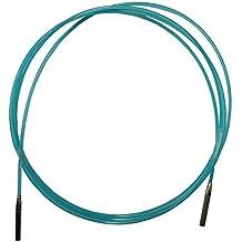 HiyaHiya–Puntas de aguja intercambiables, cable, nailon, azul, pequeño, 119 cm/124,6 cm