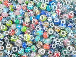 Nambeads 50 Mixed Murano glass beads to fit charm bracelets