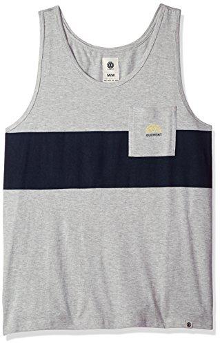 Sleeveless Knit Tank Top Shirt (Element Herren Wills Knit Tank Top T-Shirt, Grey Heather, Klein)
